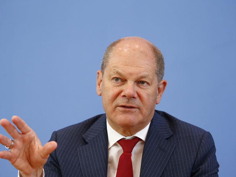 Министр финансов Германии Олаф Шольц