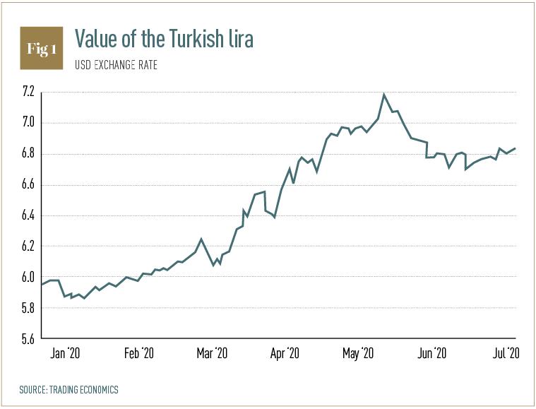 Value of the Turkish Lira
