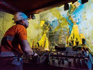 Drilling at a Hindustan Zinc underground mine
