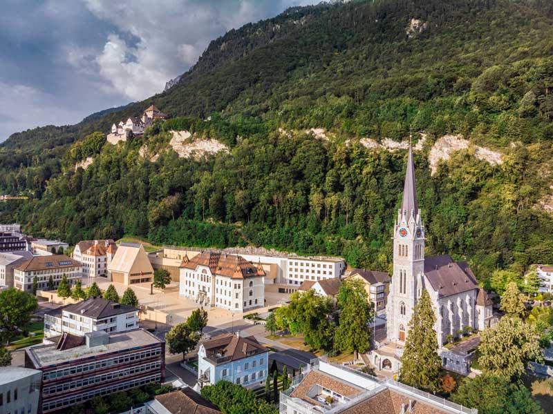Vaduz, Liechtenstein, home of Kaiser Partner Privatbank AG