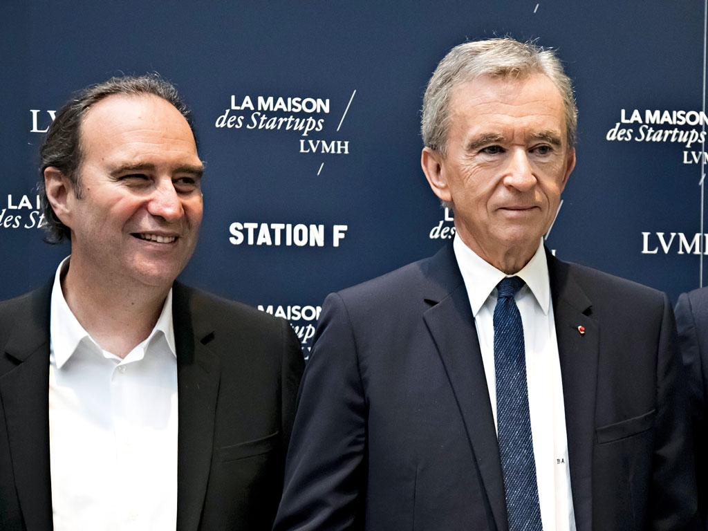 Xavier Niel, CEO of Illiad and Bernard Arnault, CEO of the LVMH group