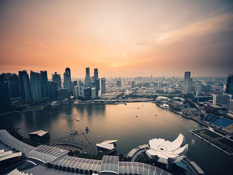 Evening over Singapore marina